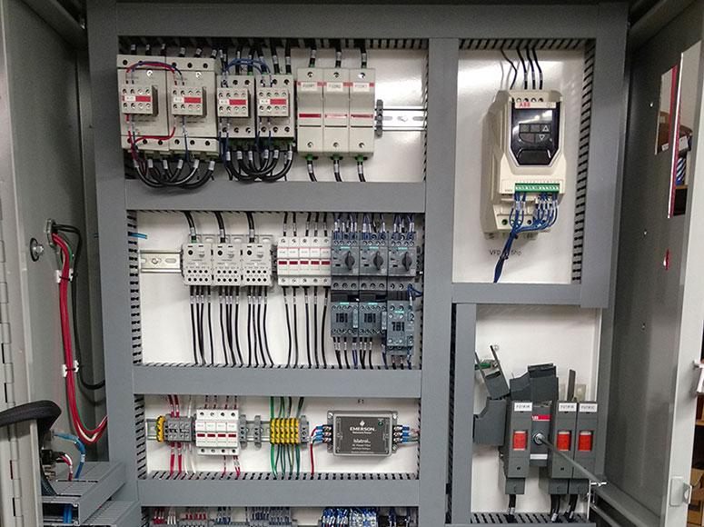 spoko integrations ltd portfolio custom control panels rh spokoint com Basic plc Diagram plc Panel Insides